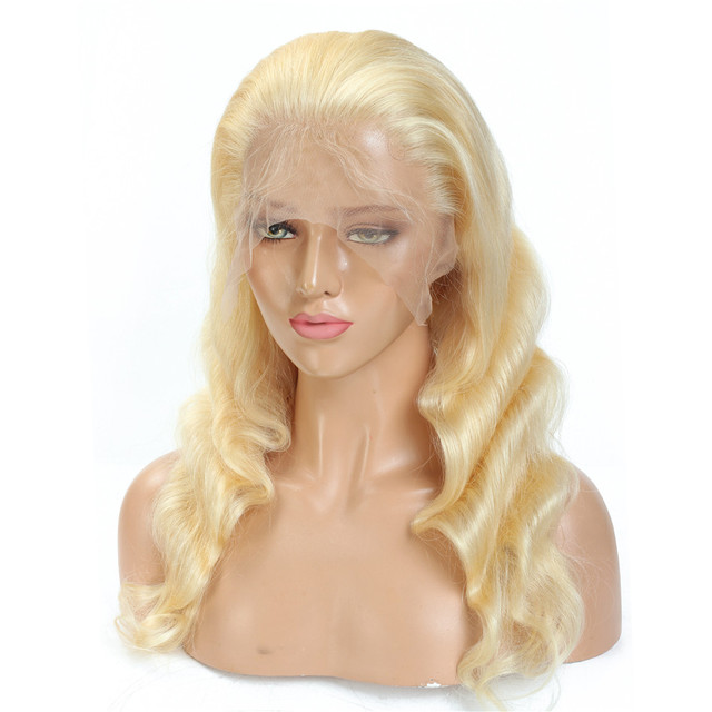 613 Blonde Lace Front Wig Body Wave Human Hair Wigs 13x4 Pre Plucked Tuneful Malaysian Remy Hair 150% Lace Frontal Wig 8-26 Inch