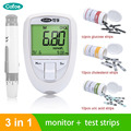 Cofoe 3 in 1 Cholesterol meter Uric Acid meter tester strips Blood Glucose Monitor Kit with Test Strips for Diabetes Device