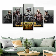 Wall Artwork Modular 5 Pcs Poster Pubg Playerunknowns Battlegrounds Home Decor Hd Print Pictures Canvas Painting For Living Room
