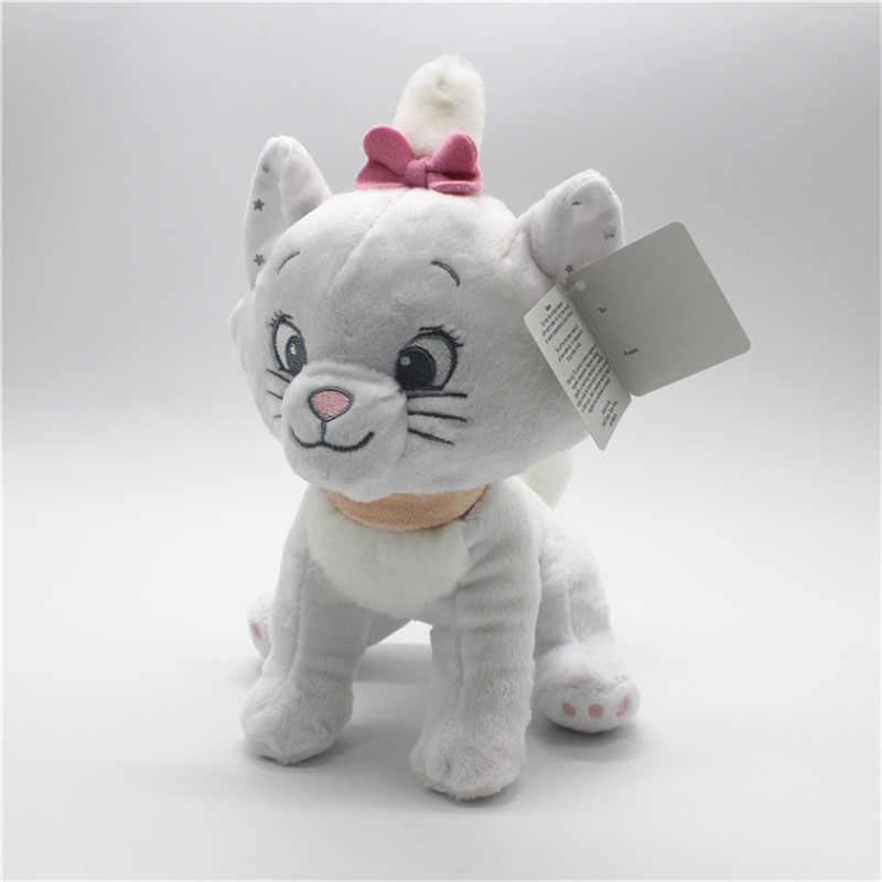 1 piece 20CM marie cat Plush Toy The adventures of the cat marie cat stuffed doll birthday Gift for kids