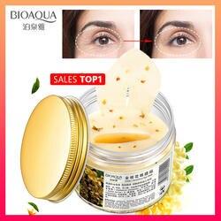 BIOAQUA Золото османтуса патчи для глаз маска коллагеновый гель белок сна Patche Remover Темные круги глаз сумка Уход за глазами 80 шт./бутылка