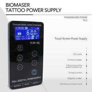 Image 4 - Biomaser TP 5 كاملة ماكينة رسم الوشم التجميلي كيت الروتاري القلم مع خراطيش إبر الوشم بندقية المهنية الوشم إمدادات الطاقة