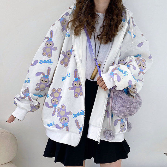 Zip-up hoodie Spring and summer Korean loose jacket women's baseball cool tide ins Harajuku style Japanese fried Sweatshirt 4