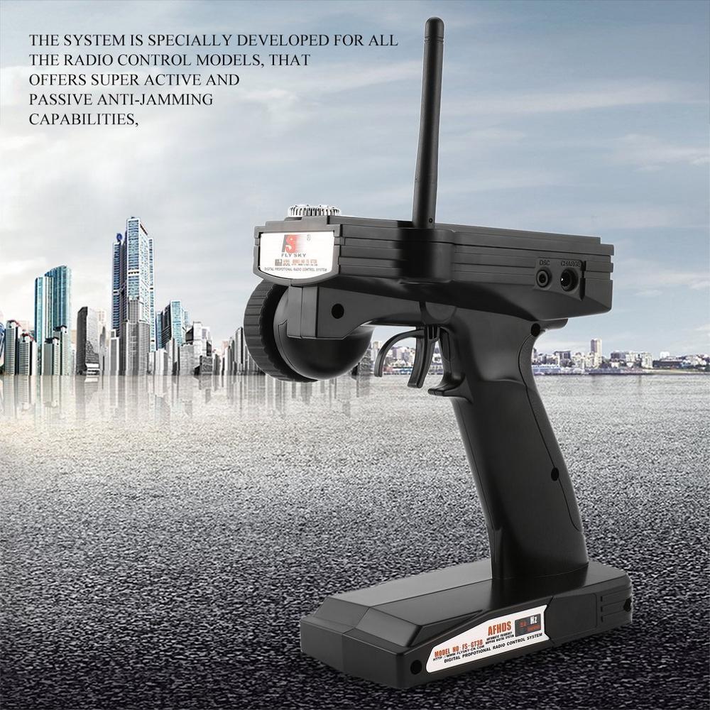 FS-GT3B 2.4G 3CH RC Boat Control Gun Transmitter /w TX Receiver For Most The Radio Control Models High Receiver Sensitivity