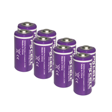 8 pces pkcell er14250 em 3.6v 1200mah lítio 1/2aa Li SOCl2 bateria para dispositivos de iluminação led gps sonobuoys substituir saft ls14250