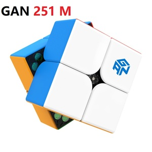 Магический куб GAN251 M 2x2x2, магический куб, игрушка-головоломка GAN, куб скорости 2x2x2, профессиональный Магнитный куб