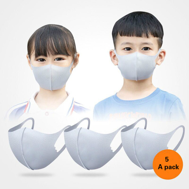5PCS Cartoon Child Face Mask For baby Kids Anti  Dustproof Smoke Pollution Mask with Ear loop Washable Respirator Mask 1