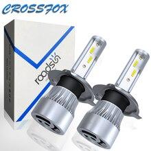 LED אור פנס החלפת רכב h7 LED H4 היי נמוך H11 אוטומטי הנורה H8 H1 H9 9005 9006 HB2 HB3 אוטומטי פנס המרת ערכת 6000K