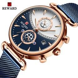 Nagroda nowi mężczyźni zegarki Top marka luksusowy Sport kwarcowy niebieski zegarek mężczyźni pełny stalowy biznesowy zegarek na rękę wodoodporny Relogio Masculino