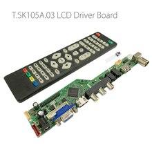 T.SK105A.03 T.SK106A.03 Универсальный ЖК дисплей светодиодный ТВ контроллер драйвер платы ТВ/PC/VGA/HDMI/USB Интерфейс 8,9 42 дюймовая матрица русский