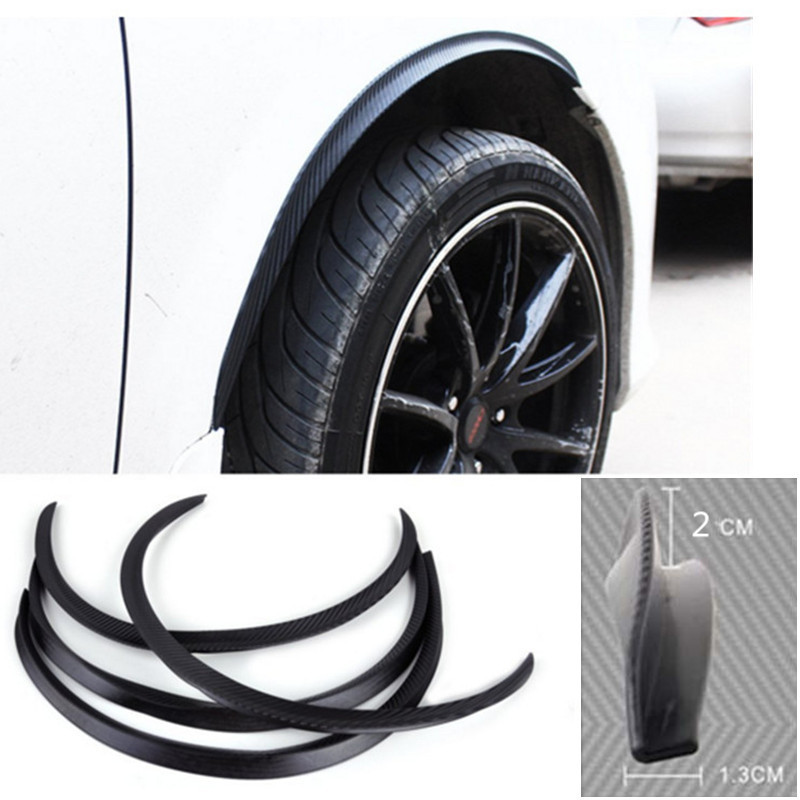 4 pièces voiture arc roue garde-boue Flare Extension protecteur lèvre anti-rayures bande souple roue lèvre garde-boue fusées voiture style