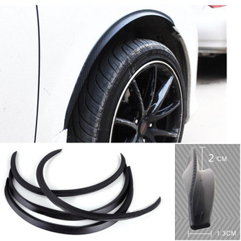 4pcs Car Arch Wheel Fender Flare Extension Protector Lip Anti-Scratch Soft Strip Wheel Lip Fender Flares Car Styling image