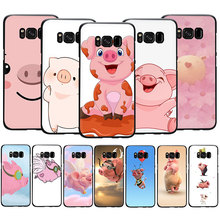 Cute pig pink Soft Silicone Case Cover For Samsung Galaxy S6 S7 Edge S8 S9 S10 plus S10e Note 8 9 10