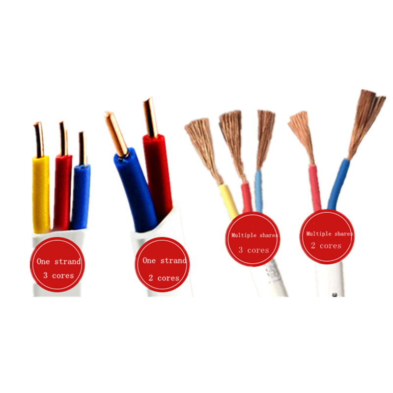 Electric <font><b>Wire</b></font> kable BVVB RVV <font><b>2</b></font> <font><b>Core</b></font> 3 <font><b>Core</b></font> 14/16/18 AWG Pure Copper Sheath Line Household Solid / Flexible <font><b>Wire</b></font> image
