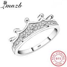 Lmnzb Настоящее 100% 925 пробы Серебряное кольцо Дамский индивидуальный