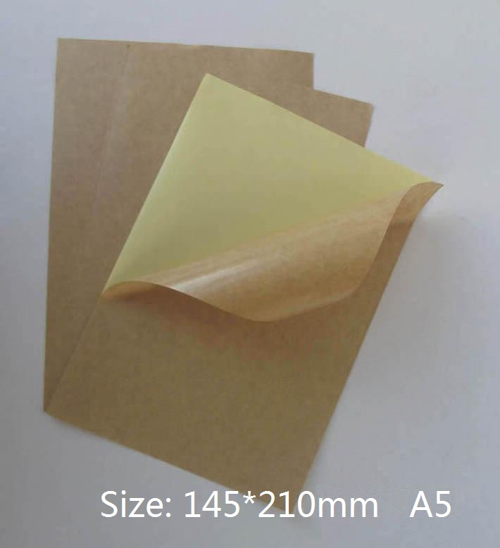 Size A5 Kraft Matte Sticky Paper Printable Self Adhesive Label Sticker 10/30/50 You Choose Quantity