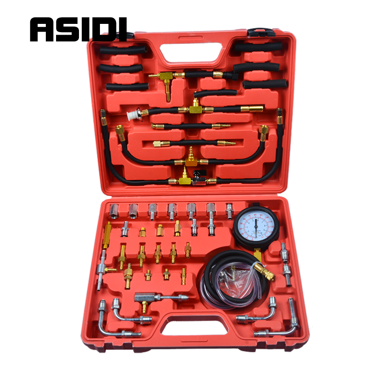 Cars Fuel Injection Pump Tester Injector Pressure Test Gauge Diagnostic Tools Kit Sets  PT1266