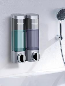 Soap-Dispenser Bottle Detergent-Shampoo Shower-Gel Liquid Wall-Mounted Bathroom Plastic