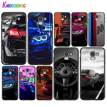 Black Cover Blue Red Car for Bmw for Samsung Galaxy J8 J7 Duo J6 J5 Prime J4 Plus J3 J2 Core 2018 2017 2016 Phone Case image