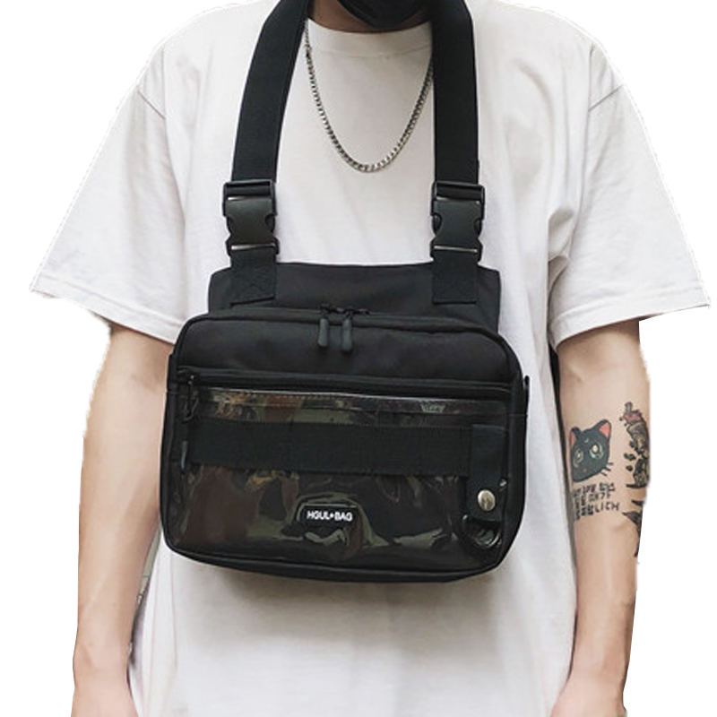 Streetwear Square Large Space Chest Bag Oxford Fanny Pack For Men Women Fashion Waist Bags Tactical Crossbody Waist Packs G146