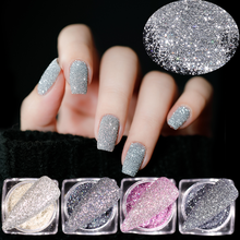 6 цветов/набор голографические алмазные порошки Волшебные пигменты для ногтей Блестящий фрагмент акриловые украшения для дизайна ногтей DIY...