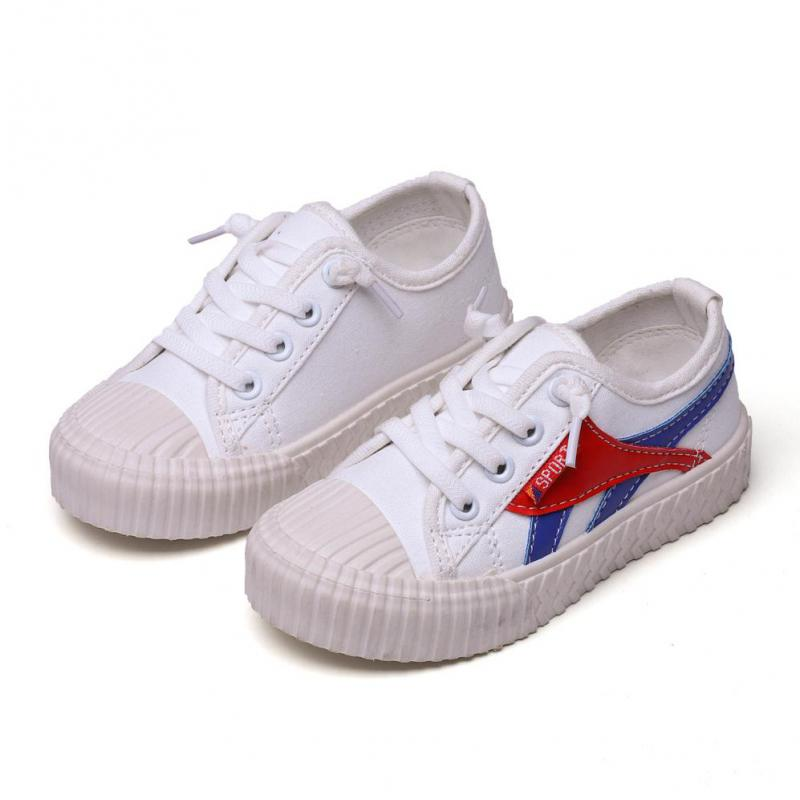 Canvas Children Shoes Sport Breathable Boys Sneakers Brand Kids Shoes For Girls White Casual Child Flat Shoes 23-34 B676