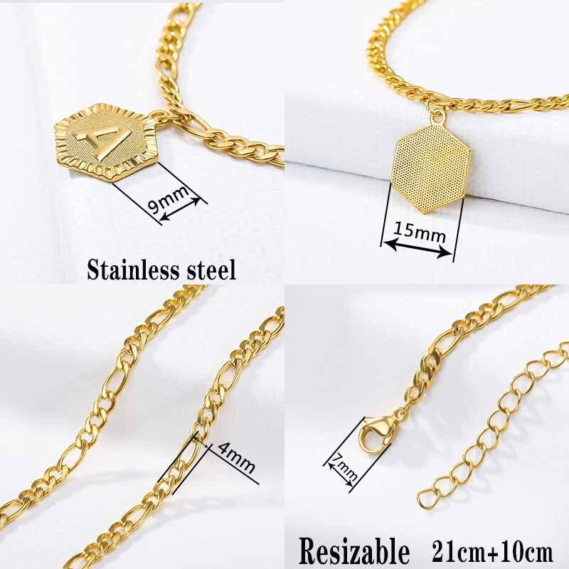 Initial Anklets Bracele for Women Stainless Steel Letter Leg Chain Gold Men Ankle Bracelet A-Z Alphabet Anklet Christmas Gifts 3