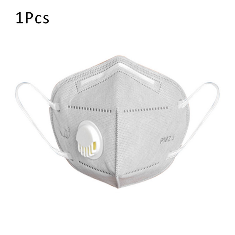 1PCs KN95 Folding Valved Dust Mask PM2.5 Anti Virus Bacteria Proof Face Mouth Mask With Anti-spit Virus Protection Fishman Hat