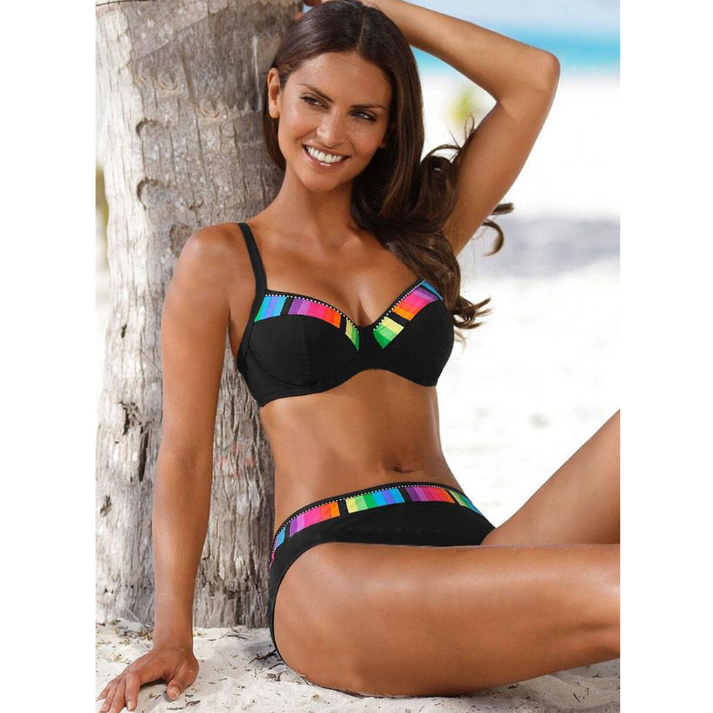 TYAKKVE Sexy 2019 Bikini Set Swimwear Women Print Swimsuit Push Up Polka Dots Bikini Plus Size BathingSuit Beachwear Biquini 3XL