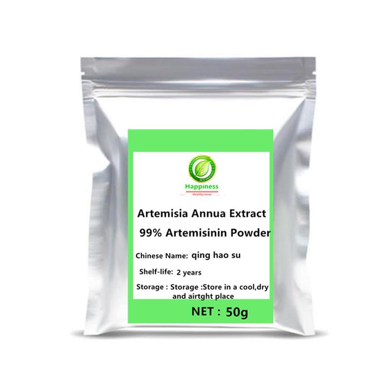 Hot Sale Artemisia Annua Extract 99% Artemisinin Powder Sweet Wormwood Anti Cancer Women/men Sex Longevity Support Free Shipping