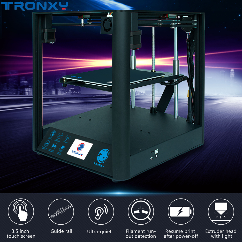 Tronxy D01Ultra-Quiet Design 3D Printer Industrial Linear Guide Rail Core Titan Extruder High-precision Printing Fast Assembly image
