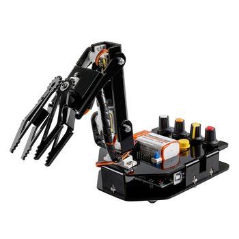 SunFounder RC programable Robot eléctrico brazo robótico Kit 4 ejes Servo Control Rollarm para Arduino DIY Robot Kit para niños