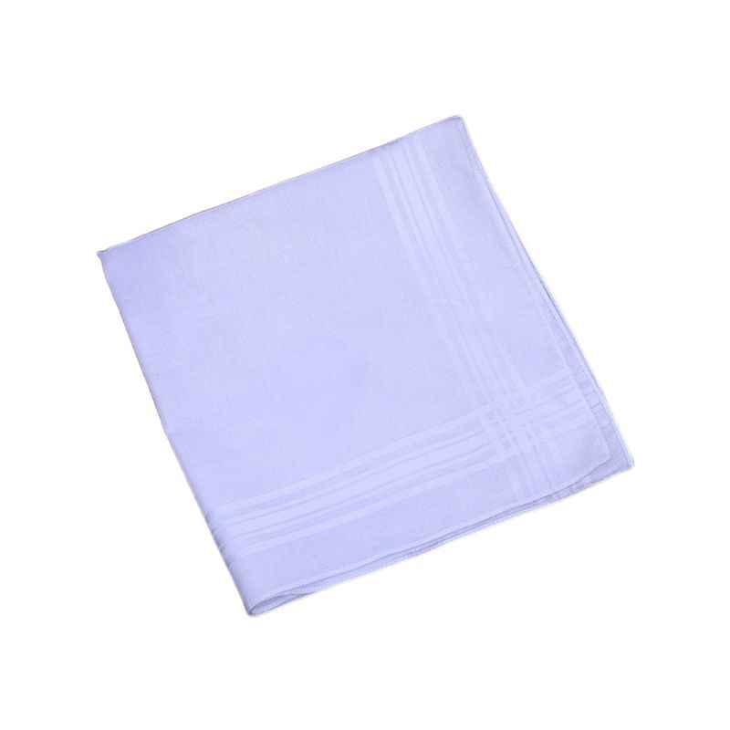 40x40cm Gli Uomini Delle Donne di Fantasia Tessuto Fazzoletti Fazzoletti di Cotone Classico Bianco Puro Strisce Jacquard Stampa Tasca Tovagliolo Quadrato regalo