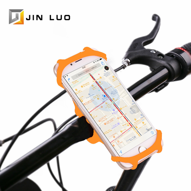Bicycle Phone Holder Bike Motocycle Smartphone Support Aluminum Alloy Silicon Adjustable MTB Road Cycling Handlebar Mount Stand