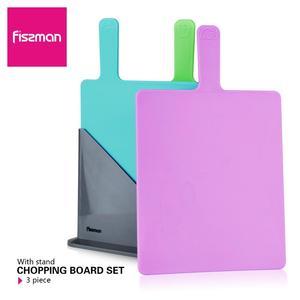 Image 2 - Fissman Cutting Board Plastic Mats Non slip Anti Bacterium Chopping Block Set of 3pcs