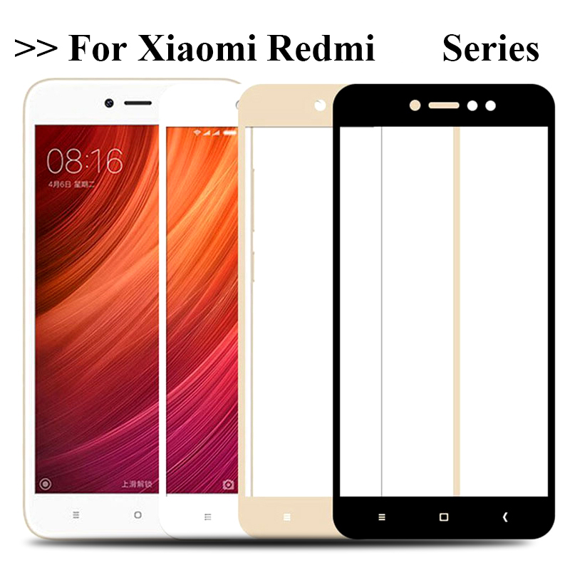 Full Cover Tempered Glass For Xiaomi Redmi 4X 4A 3s For Redmi Note 5A Prime 5plus Note 4 4X 5Pro Screen Protector Toughened Film