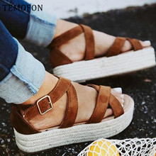 TEMOFON gladiator sandals women ladies platform san