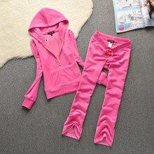Primavera/outono 2021 mulheres marca veludo tecido fatos de treino terno de veludo feminino faixa terno moletons e alargamento calças tamanho s-xxl 661