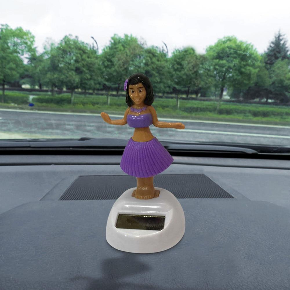 Auto Ornament Hawaii Mädchen Auto Solar Powered Tanzen Tier Schwingen Animierte Bobble Tänzerin Lustige Spielzeug Auto Zubehör # PY10