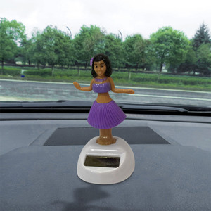 Car Ornament Hawaii Girl Car Solar Powered Dancing Animal Swinging Animated Bobble Dancer Funny Toys Car Accessories #PY10