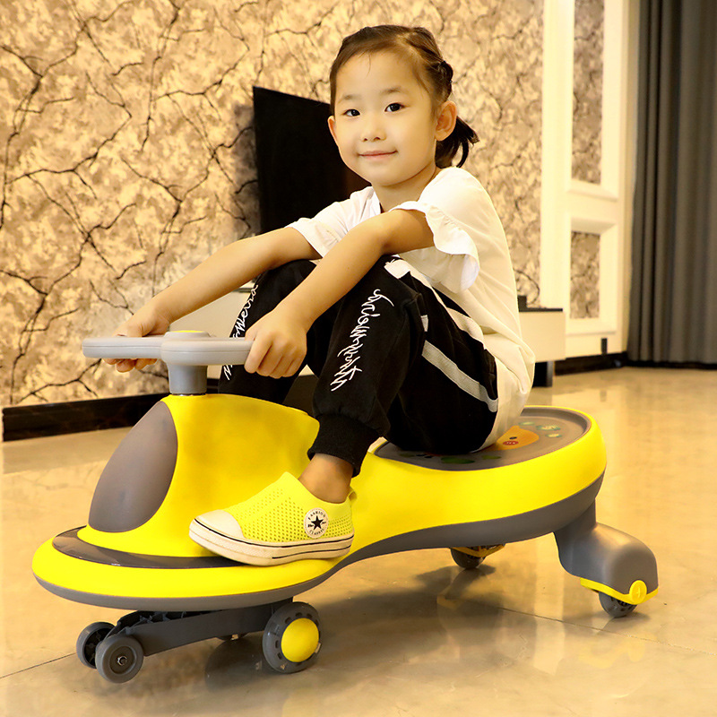 New Retro Children's Twist Car With Lights And Music Kids Ride On Toys Car For Children Baby Walker Holiday Birthday Gift Unisex