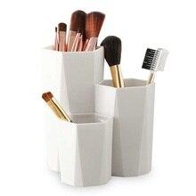 3 решетки макияж Настольный органайзер Косметическая щетка коробка держатель для косметики инструменты для макияжа коробки для украшений, витрина