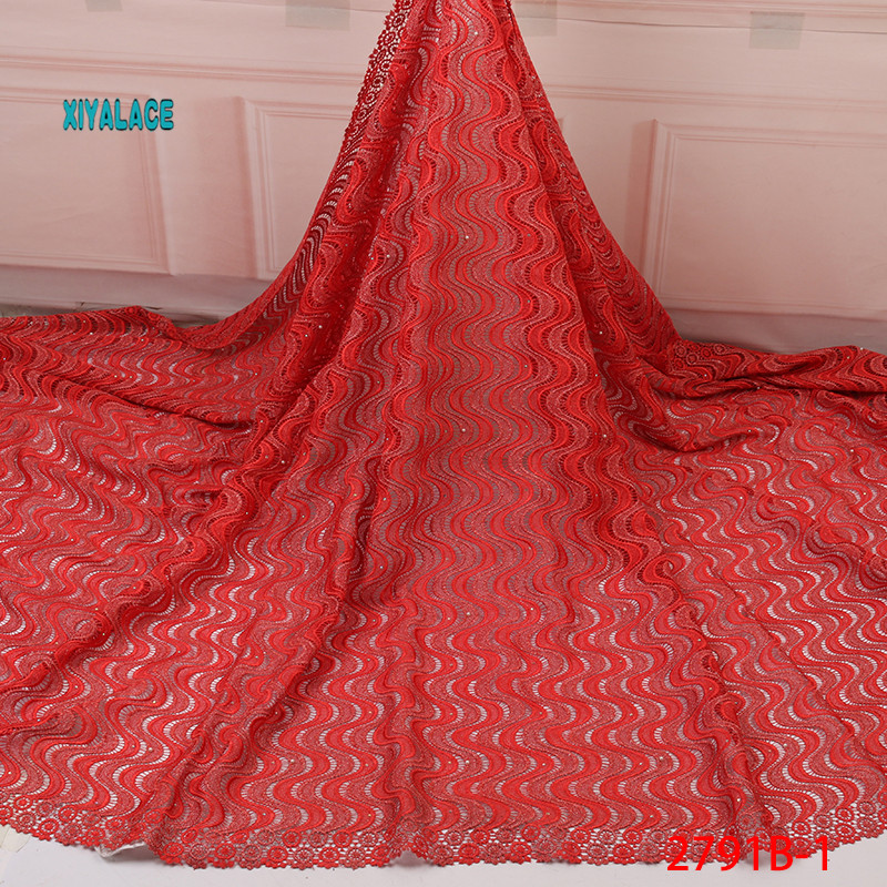 Swiss Lace Fabric Hot Selling African Lace Fabrics Nigerian 2019 High Quality Lace Pink French Lace Fabric For Wedding YA2791B-1