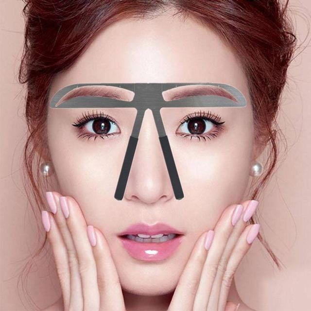 Eyebrow Ruler Brow Stencil Makeup Shaping Position Measurer Tattoo Template