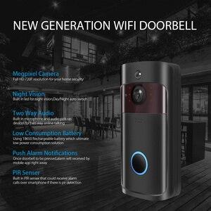 Image 4 - IP וידאו אינטרקום WI FI וידאו דלת טלפון דלת פעמון 720P WIFI פעמון מצלמה עבור דירות IR מעורר אבטחה אלחוטית מצלמה