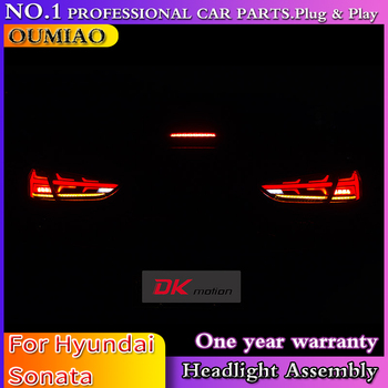 car accessories tail light for Hyundai Sonata 2018 taillights LED Tail Lamp rear trunk lamp cover drl+signal+brake+reverse