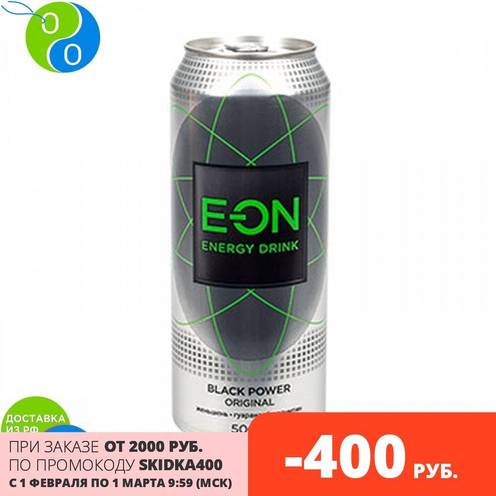 Напиток безалкогольный тонизированный энергетический газированный E-ON BLACK POWER 450 мл