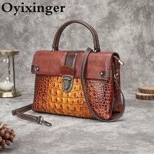 Oyixinger винтажная сумка ретро Аллигатор роскошная 2020 Новая