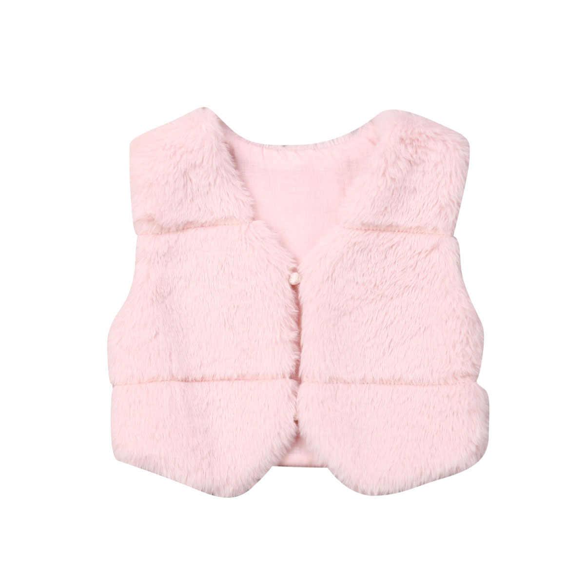 Nova Da Menina Da Criança Crianças Roupas de Inverno Quente da Pele Do Falso Fofo Jaquetas Casaco Grosso Outwear