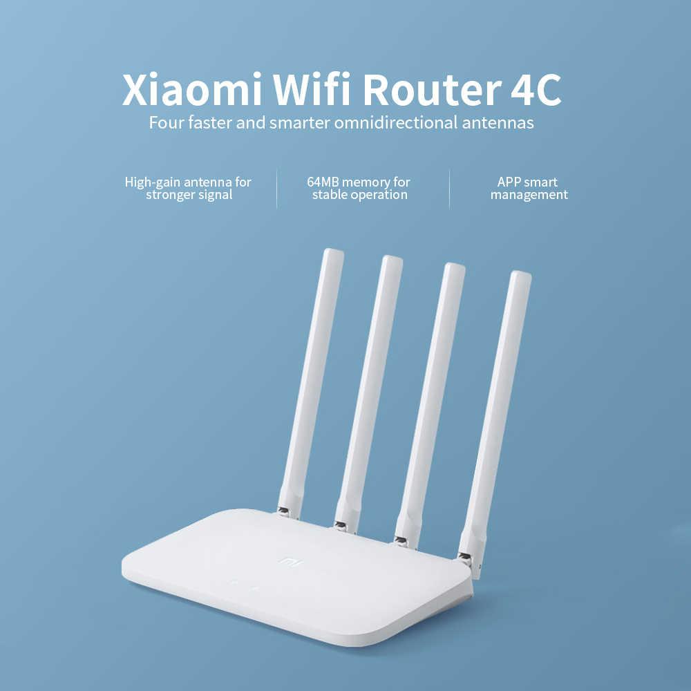 シャオ mi オリジナル mi 無線 Lan ルータ 4C 64 RAM 300 150mbps の 2.4 グラム 802.11 b/g/n 4 アンテナバンド無線ルータ無線 Lan リピータアプリ制御